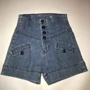 Guess high waisted shorts